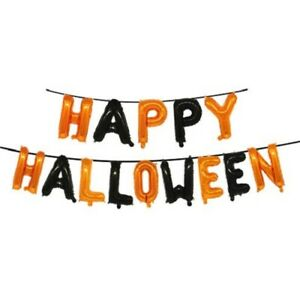 HAPPY HALLOWEEN FOIL BANNER Party Decorations Props Scary Garland Bloody Balloon