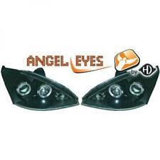 Scheinwerfer Set für Ford Focus 98-01 Klarglas/Schwarz Angel Eyes