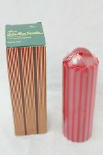 "Avon Candle Color Glow One Column 6"" Ribbon Red 1985 Vintage"