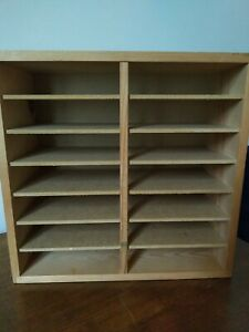Wooden CD Office Storage Unit Table Top Or Wall Mounted