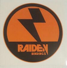 *** NITRO - Raiden Bindings - Snowboard Sticker - Die Cut - Rund - 10,5cm ***