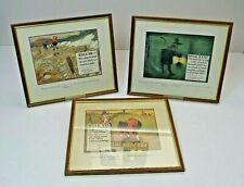 Charles Crombie Golf prints, Framed Rules of Golf Prints x 3 (1002)