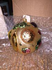 Slavic Treasures Ornament Fruit Bowl Ball Glass Handmade In Poland Nib