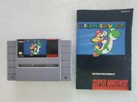 Super Mario World SNES Super Nintendo 1991 Video Game Cartridge Manual