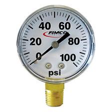 Fimco 5167097 High Pressure Dry Gauge 14 Mipt Plastic Stem 2 Face And Back