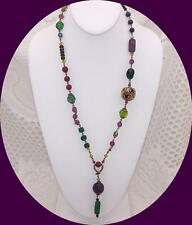 Vintage Venetian Murano Art Glass Beads & Crystal Necklace.