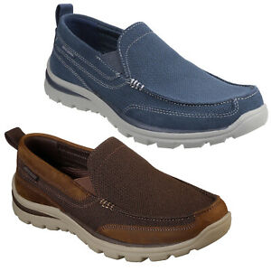Skechers Relaxed Fit: Superior - Milford Mens Shoes Memory Foam Canvas Trainers