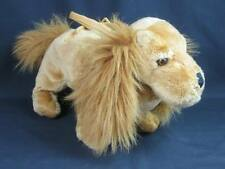 "Big Lifelike Blonde American Cocker Spaniel Purse Handbag Puppy Dog Plush 16"""