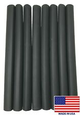 """(8) 12"""" Black Heat Shrink Tubing 1"""" Dual Wall Adhesive Lined Cable Wire Wrap 3:1"""