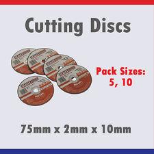SEALEY PTC/3C5 75MM x 2MM 10MM METAL CUTTING DISCS - PACK OF 5, 10