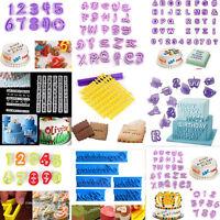 1Set Alphabet Number Letter Fondant Cake Decor Cookies Cutter Mold Mould Tools