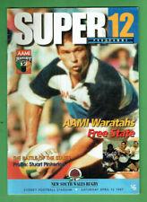 #Kk. Super 12 Rugby Union Program - 12/4 1997, Nsw Waratahs V Free State