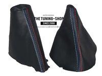 For Bmw 5 E60 E61 2003-06 Gear & Handbrake Gaiter Black Leather M3 /// Stitching