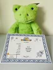 More details for build a bear frog   exclusive spring green frog   bnwts and certificate   41cm