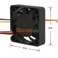 3 Pin 40mm Computer CPU Cooling Fan PC 40x40x10mm DC 12V Quiet Heatsink Cooler