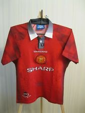 BOYS Manchester United 1996/1997 Home Size L Umbro shirt jersey football soccer