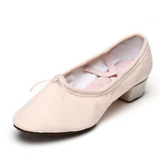 Brand New Unisex Canvas Teacher Practice Ballet Dance Shoes heeled Salsa Hot