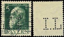 """BAVIÈRE / BAYERN - 1911 - Mi.77.I mit FIRMENLOCHUNG """" I.L """" gebraucht MÜNCHEN"""