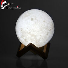 3D Magical Moon Lamp USB Moon Night Light Moonlight + base Touch Sensor for Gril
