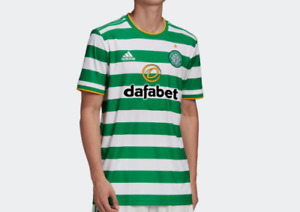 adidas Celtic FC Home Soccer Jersey Authentic AeroReady Short Sleeve Green White