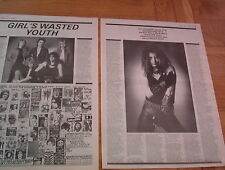 PHIL LEWIS (Girl, LA Guns) 2 page ARTICLE / clipping 1981 (Def Leppard)