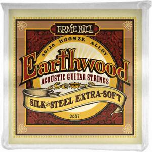 Ernie Ball 2047 - Jeu de cordes guitare acoustique - Earthwood 80/20 Bronze - E