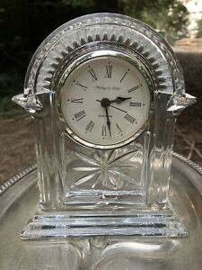 Sterling And Noble Decorative Crys Glass Clock Beautiful In Working Condition