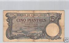 BANK- DES'INDOCHINA HAIPHONG 5 PIASTER 27 MAI 1920 L.297 NR. 170 PICK 19