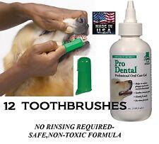 Dog Cat Pet Oral Care Dental GEL TOOTHPASTE& 12 TOOTHBRUSH Reduce Plaque/Tartar