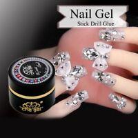DIY Nail Art Rhinestones Gel Glue UV Adhesives Sticky Crystal Diamond Gems Decor