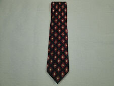MENS 57 INCH COACH ITALY HANDMADE ITALIAN SILK BLACK RED BEIGE NECK TIE