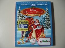 Beauty and the Beast: An Enchanted Christmas (Blu-ray/DVD, 2-Disc Set) NEW