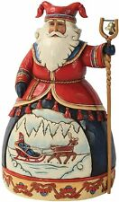 Jim Shore Heartwood Creek 2012 5th Lapland Santa w/Sleigh Scene 4025842