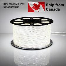 110V 50m 2835 led light strip waterproof IP67 120 leds/meter UL ETL