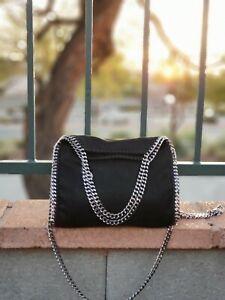 Cross Body, Falabella style Shoulder Bag. New. Medium. Black