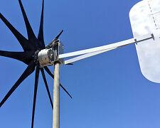 900 Watt wind turbine 10 Black Blades Fast Revving 12 volt DC / 2 wire PMG /PMA