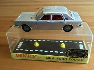 DINKY 164 FORD ZODIAC MK4 SILVER ORIGINAL AND BOXED