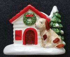 Department 56 Snow Village 'Dog and Cat' Set of 2 #5131-4 Retired 1992