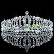 Transparente Rhinestone DIMOND Tiara Wedding Bridal Corona