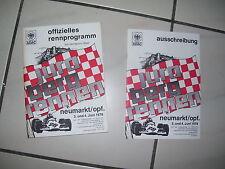 Jura Bergrennen Neumarkt / Opf. 3. und 4. Juni 1978 Rennprogramm Ausschreibung