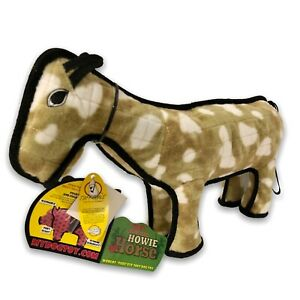 "TUFFY Howie The Barnyard Horse World's Tuffest Soft Dog Toy Large 19"" Floats"