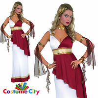 Ladies Roman Goddess Toga Greek Empress Womens Adult Fancy Dress Party Costume