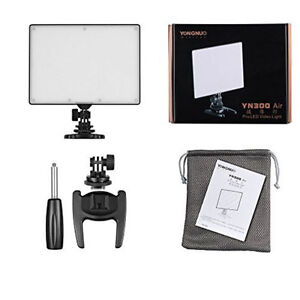 YONGNUO YN300 Air LED Camera Video Light Adjustable Color Temp +Battery & Charge
