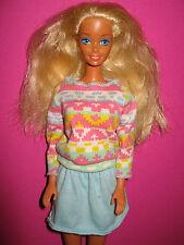 B85-vieja rubio barbie mattel en breve coloridos camiseta-fetichistas muy bien