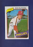 Dick Ruthven 1980 TOPPS Baseball #136 (NM) Philadelphia Phillies