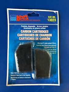 Premium Activated Carbon Filter Cartridges Lees Aquarium Under-Gravel/UGF 2Pack