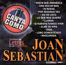 Grupo Mexico Lindo Pistas: Canta Como Joan Sebastian CD ***NEW***