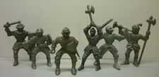 1950's Lot of 6 Grey Kellogg's Corn Flakes Knights Premium Figures