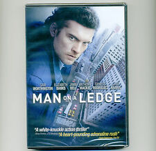 Man on a Ledge 2012 PG-13 thriller movie, new DVD, Sam Worthington, Ed Harris