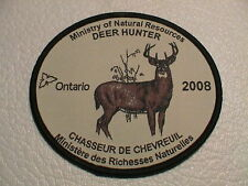 2008 ONTARIO CANADA MINISTRY NATURAL RESOURCES SUCCESSFUL DEER HUNTER GUN PATCH